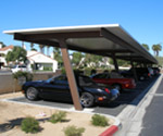 CALCRAFT Manufactures all types of canopies, including solar canopies, service station canopies, retail canopies, HJH Car Port Canopy