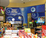 Interior painting at Circle K convenience store, Professionally Installed Graphics in Circle K Convenience Store